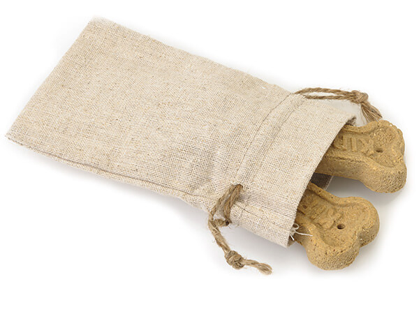 "Linen Favor Bags with Drawstrings, Small 4x6"", 12 Pack"