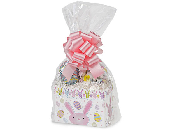 "Clear Poly Gift Basket Bags, Small 13x4x17.5"", 200 Pack"
