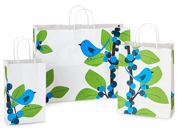 Blue Bird Berries White Kraft 125 Pk Paper Bag Assortment