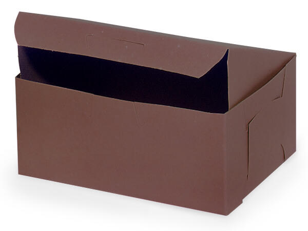 "6-1/4x3-3/4x2-1/8"" Chocolate Box 250 Pk 1-piece Lock Corner Box"