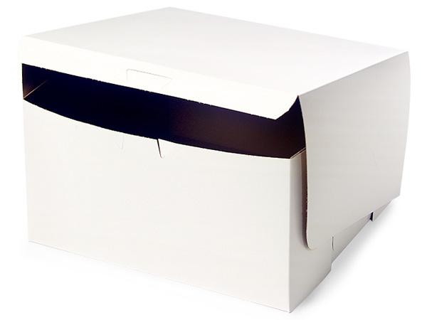 """10x10x5"""" White Bakery Boxes 100 Pk 1-piece Lock Corner Box"""
