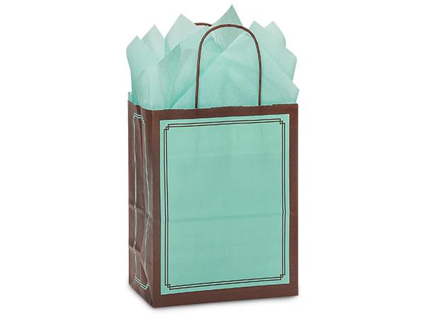 """Aqua & Chocolate Duets Bags Cub 8.25x4.75x10.5"""", 250 Pack"""