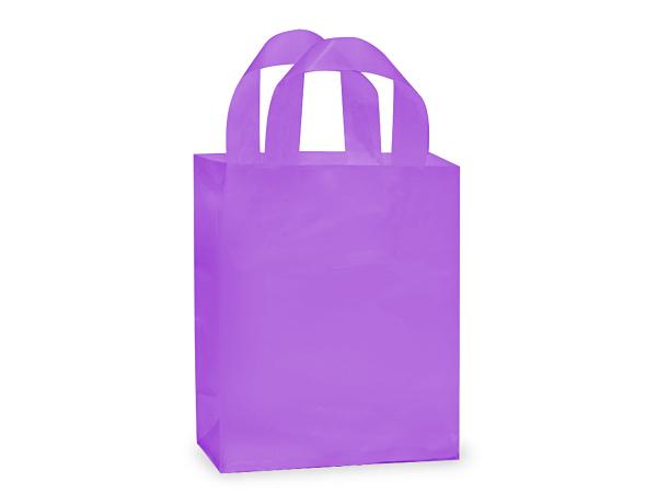"Lavender Mist Plastic Gift Bags, Cub 8x4x10"", 200 Pack, 3 mil"