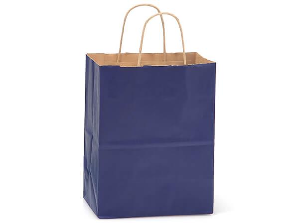 "Cub Dark Blue Recycled Kraft Bags 250 Pk 8x4-3/4x10-1/2"""