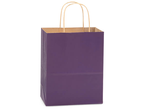 Cub Purple Recycled Kraft Bags 250 Pk 8x4-3/4x10-1/2""