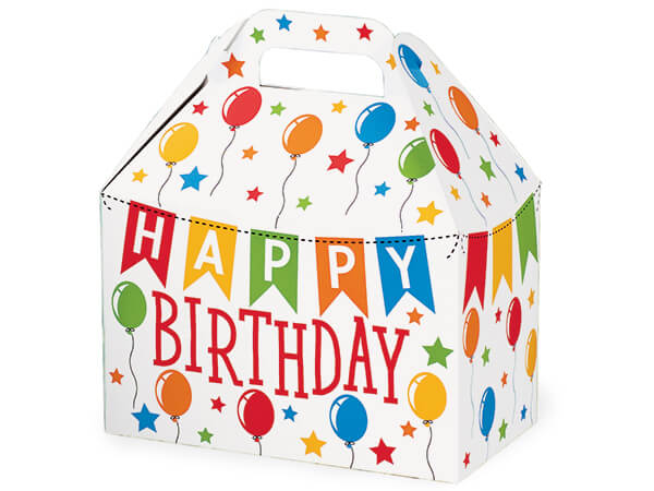 Birthday Banner Gable Boxes 8-1/2 x 4-3/4 x 5-1/2""