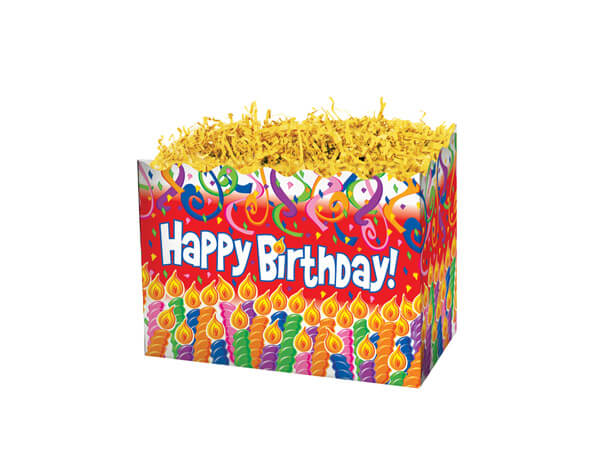 Small Birthday Candles Basket Boxes 6-3/4x4x5""