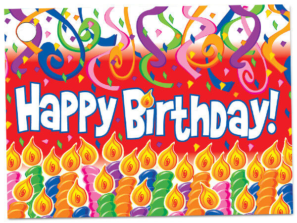 Birthday Candles Theme Gift Cards 3-3/4x2-3/4""