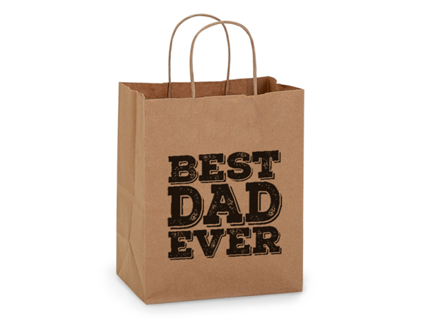 """Best Dad Ever Father's Day Gift Bag Cub 8x4.75x10.25"""", 5 pack"""