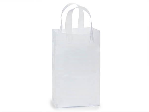 "Debbie Clear Plastic Bags 250 3 mil Shopping Bags 8x6x14"""