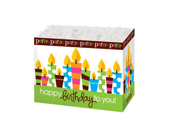 """Small Birthday Party Basket Boxes 6-3/4x4x5"""""""