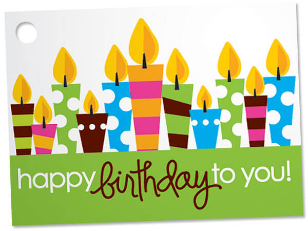 Birthday Party Theme Gift Cards 3-3/4x2-3/4""