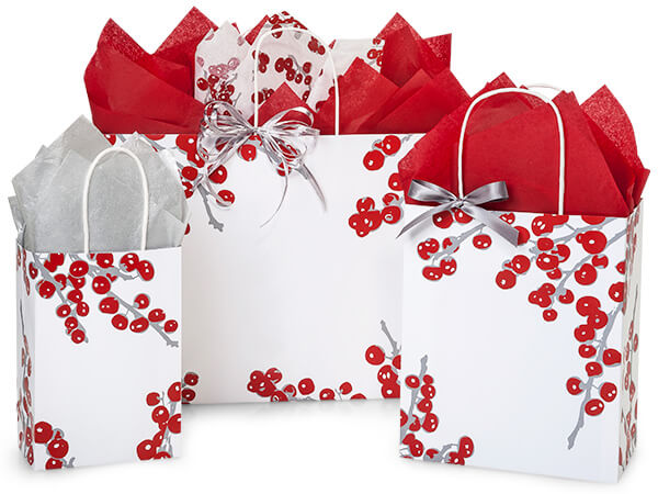 Berry Frost Paper Shopping Bags