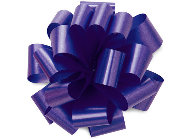 "5"" Purple Self Adhesive Pom Pom Gift Bows, 48 Pack"