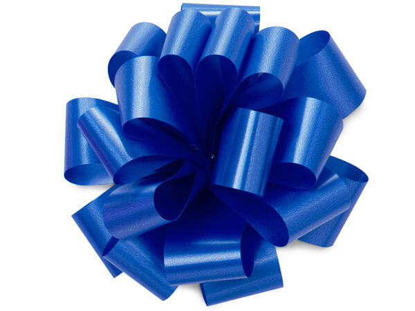 "5"" Royal Blue Self Adhesive Pom Pom Gift Bows, 48 Pack"