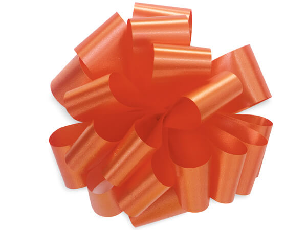 "Tropical Orange 5"" Self Adhesive Pom Pom Gift Bows, 48 Pack"