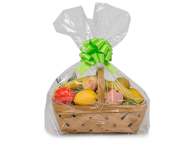 "Clear Poly Gift Basket Bags, Large 22x8x25"", 25 Pack"