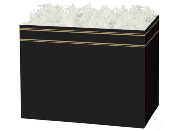 Large Black & Gold Basket Boxes 10-1/4x6x7-1/2""