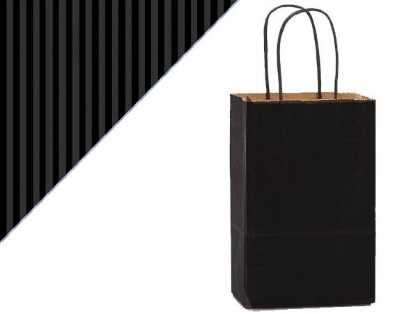 "Black Shadow Stripe Kraft Bags Rose 5.5x3.25x8.375"", 25 Pack"