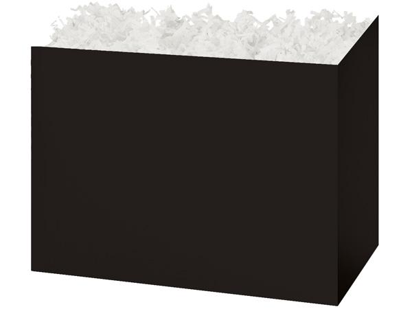 "Large Solid Black Basket Boxes 10-1/4x6x7-1/2"""