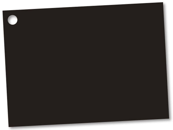 Solid Black Theme Gift Cards 3-3/4x2-3/4""