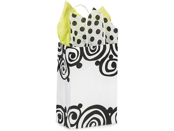 "Rose Bohemian Swirls Recycled Paper Bags 250 5-1/2x3-1/4x8-3/8"""