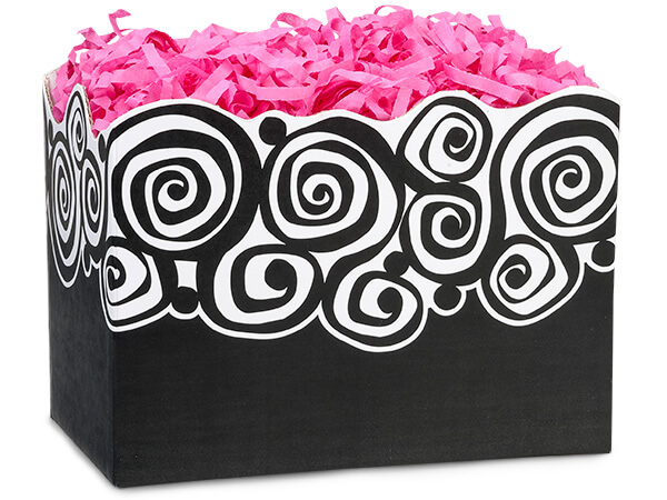 *Large Bohemian Swirls Basket Boxes 10-1/4x6x7-1/2""