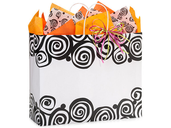 "Vogue Bohemian Swirls Recycled Bags 25 Pk 16x6x13"""