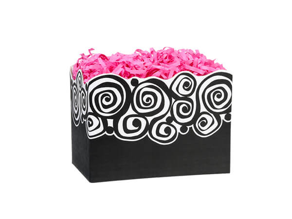 *Small Bohemian Swirls Basket Boxes 6-3/4x4x5""