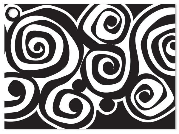 "Bohemian Swirls Gift Cards 3-3/4x2-3/4"""