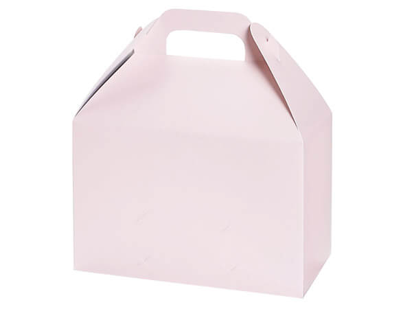 "Blush Pink Matte Gable Box, 8.5x4.75x5.5"", 6 Pack"