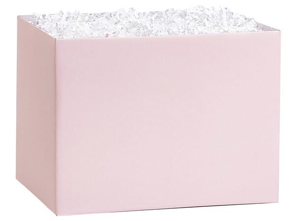 "Large Solid Blush Pink Basket Box 10.25x6x7.5"", 6 Pack"