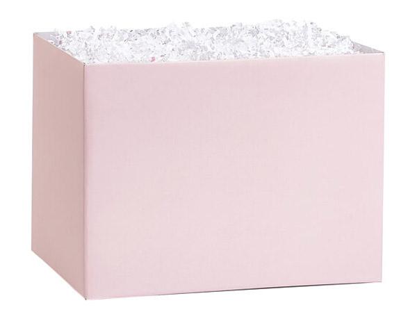 "Blush Pink Basket Box, Medium 8.25x4.75x6.25"", 6 Pack"