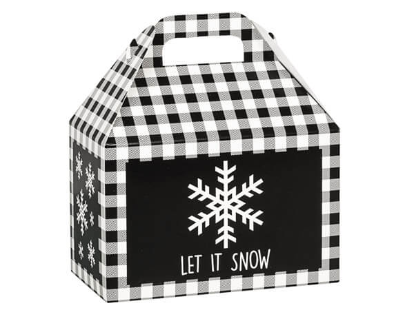 Black Plaid Snowflake Gable Boxes