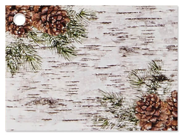 """Birch and Pine Theme Gift Card, 3.75x2.75"""", 6 Pack"""