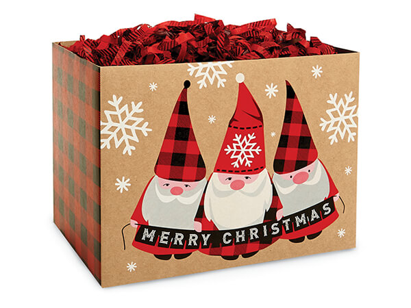 """Buffalo Plaid Wishes Basket Boxes Small, 6.75x4x5"""", 6 Pack"""