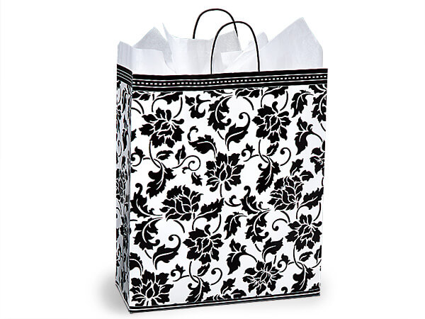 "Queen Floral Brocade Shopping Bags 200 16x6x19"""