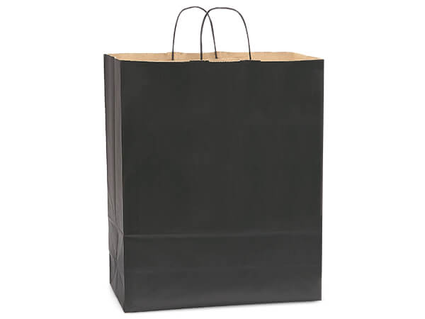 Queen Black Recycled Kraft Bags 200 Pk 16x6x19-1/4""