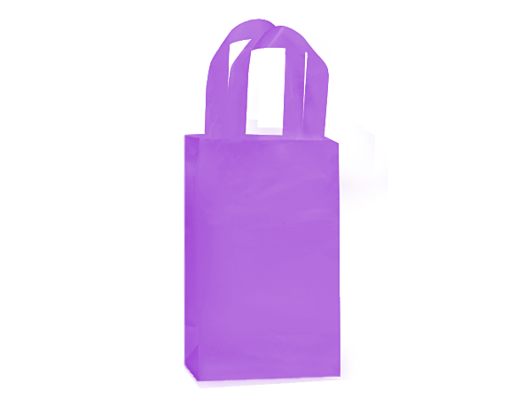 "Lavender Mist Plastic Gift Bags, Rose 5x3x8"", 200 Pack"