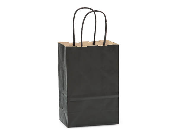 Rose Black Recycled Kraft Bags 250 Pk 5-1/2x3-1/4x8-3/8""