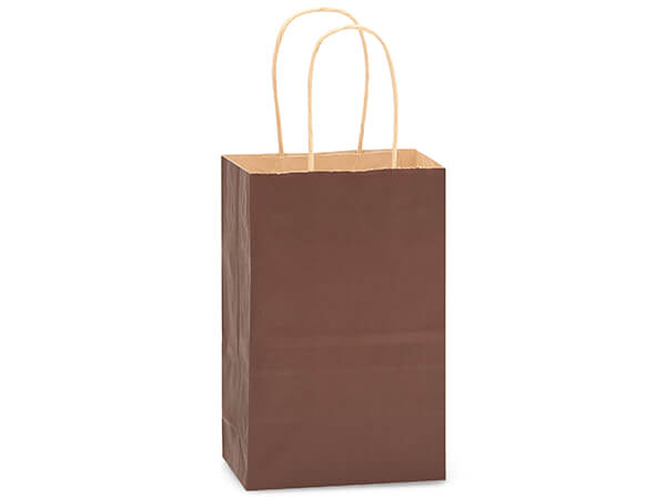 "Chocolate Brown Recycled Kraft Bags Rose 5.5x3.25x8.375"", 250 Pack"