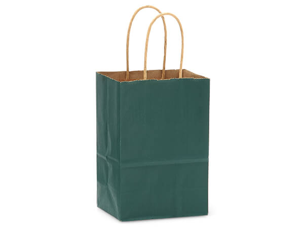 "Hunter Green Recycled Kraft Bags Rose 5.5x3.25x8.375"", 250 Pack"