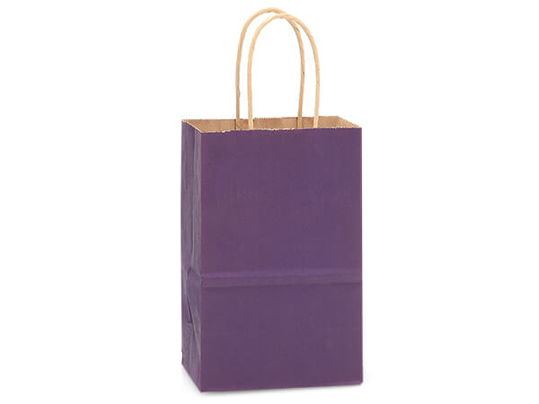 Rose Purple Recycled Kraft Bags 250 Pk 5-1/2x3-1/4x8-3/8""