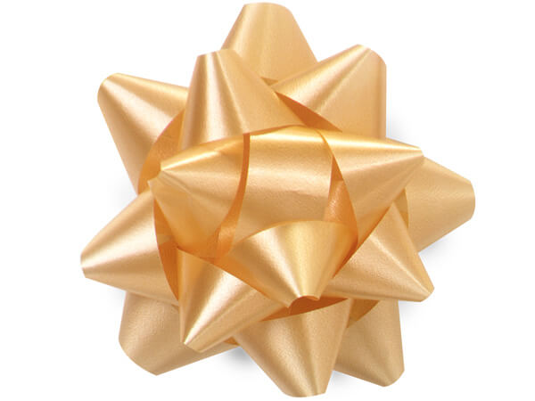 "3-1/2"" Gold Self Adhesive Star Gift Bows, 48 Pack"