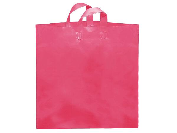 "Blazing Pink Studio Plastic Bags Colossal 22x18x8"" ~ 200 bulk pack"