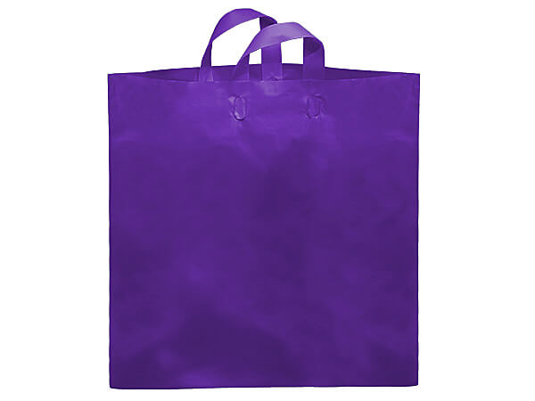 "Purple Studio Plastic Bags Colossal 22x18x8"" ~ 200 bulk pack"