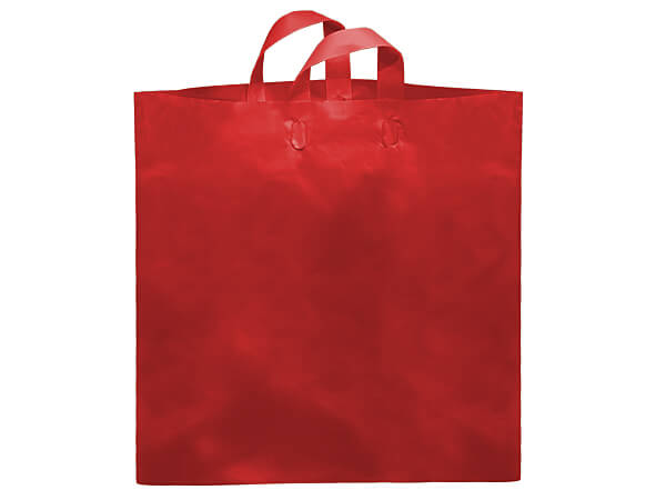 "Red Studio Plastic Bags Colossal 22x18x8"" ~ 200 bulk pack"