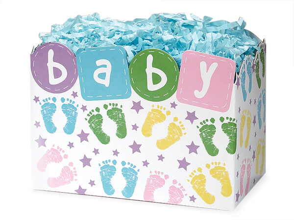 Large Baby Steps Basket Boxes 10-1/4x6x7-1/2""