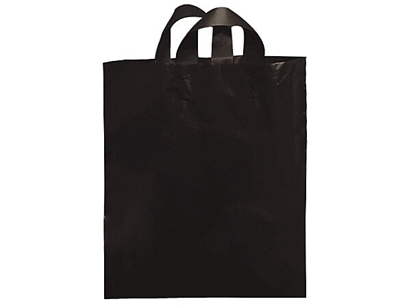 "Black Studio Plastic Bags Mezzo 16x15x6"" ~ 250 bulk pack"