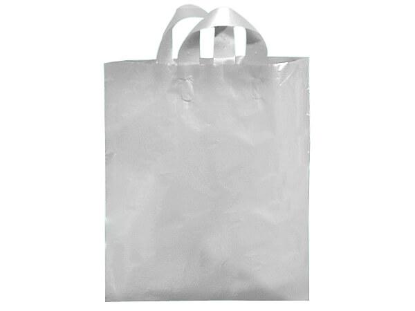 "Clear Mezzo Reusable Plastic Bags, 16x15x6"", 250 pack, 2.25 mil"